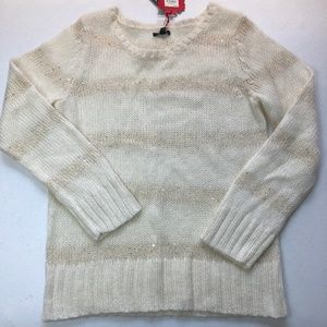 Apt 9 Kohl's Holiday Knit Sweater w/Sequins Ivory